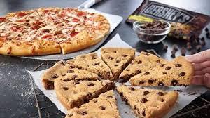 pizza hut dessert menu. Simple Pizza Pizza Hut Adds 8slice Hersheyu0027s Chocolate Chip Cookie To Dessert Menu Throughout Dessert Menu E