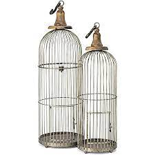 Amazon.com: Imax 40516-2 Lenore Bird Cages - Set of 2 Bird Cage: Home &  Kitchen