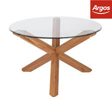 heart of house oakington solid oak and glass dining table from argos on