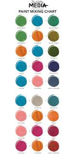 Paint Color Mixing Chart New Dina Wakley Media Paint Color Mixing Chart Mixing