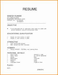 Education Qualification Format In Resume Unique Captivating Mca