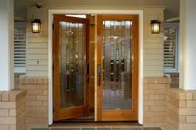 mission style front doorDoor  Exterior Door Glass Serve Wood Entry Doors Winsome