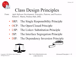 Agile Software Development Principles Patterns And Practices The Principles Of Agile Design