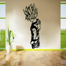 zn d 240super saiyan goku vinyl wall decal dragon ball cartoon anime art wall sticker for kids room home decor uniqu gift on home decor wall art au with dragon ball wall art australia new featured dragon ball wall art