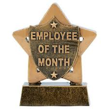 Employee Of The Month Free Online Employee Of The Month Trophy Work Star Award Engraving 8cm A1903 Bx 33