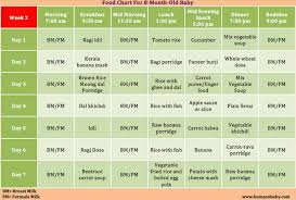 Curious Nine Month Baby Food Chart In Hindi Baby Food Chart