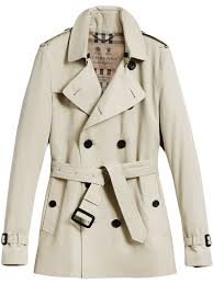 burberry the kensington short trench coat wrodw01457 mens clothing