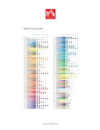 Supracolor Color Chart Caran Dache Pablo Colored Pencils 12