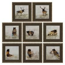 framed wall art set of 8
