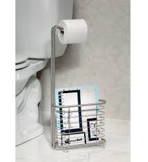 Toilet Roll Holder Magazine Rack The Forma Stainless Steel Magazine Rack And Tissue Stand Will Hold 55