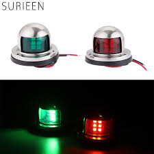 12v Rope Lights For Boats Us 12 98 20 Off 1 Pair 2pcs Boat Accessories Stainless Steel 12v Led Bow Sailing Signal Navigation Lamp Red Green Light For Marine Yacht Pontoon In