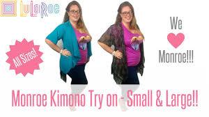Lularoe Monroe Size Chart Our Lularoe Obsession Monroe Kimono Fit And Sizing