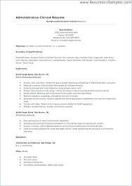 Clerical Resume Unique Resume Samples For Clerical Jobs Fruityidea Resume