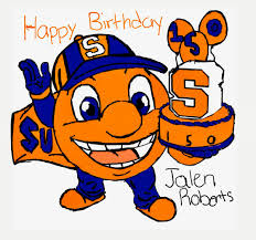 """Briana Wade on Twitter: """"Our son took to wishing @SyracuseU a very HAPPY  150th BIRTHDAY! 🍊💙 #SU150 @SUAlums… """""""