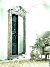 door hanging jewelry armoire over the door mirrored hanging jewelry armoire with etched scroll