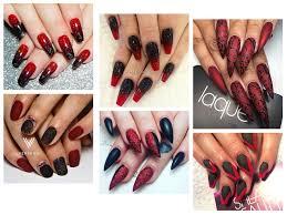 Halloween Nail Designs 2019 20 Creepy Halloween Black Red Nails Art Designs Ideas