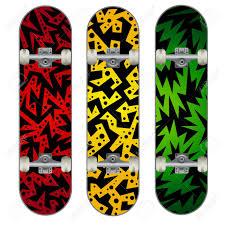 Skateboards Designs Set Of Three Skateboard Designs