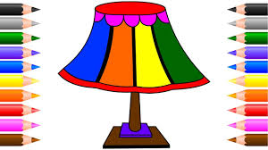 Lamp Coloring Pages For Kids Children How To Draw Lamp Colouring Easy Coloring Book Pages Videos