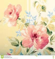 Detail Van Uitstekend Behang Met Roze Bloemen Victorian Patroon