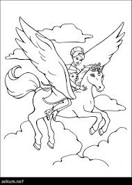 Barbie And Pegasus Coloring Pages And The Magic Of Pegasus Coloring