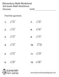 3rd Grade Division Worksheets With Pictures Printable Long ...