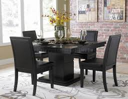 ... Dining Tables, Astounding Black Square Modern Wooden Black Dining Table  Stained Ideas: top black ...