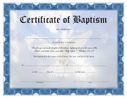 Baptism Certificate Baptism Certificate Free Printable Allfreeprintable Com