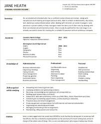 Personal Assistant Resume Delectable 28 Sample Personal Assistant Resumes Sample Templates