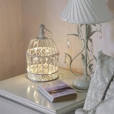 shabby chic lighting. shabby chic bird cage with warm white wire lights 27cm lighting