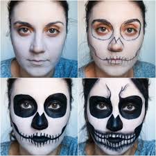 step by step makeup maquillaje muerte paso paso
