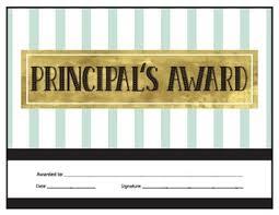 Principal Award Certificate Principals Award Certificate