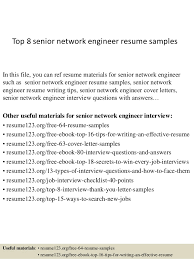 top 8 senior network engineer resume samples in this file you can ref resume materials resume samples for network engineer