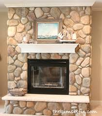 Exciting River Rock Fireplace Photo Inspiration