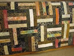Batik Patchwork Quilt with Mostly Black, Brown and Tan Colors ... & ... Batik Patchwork Quilt with Mostly Black, Brown and Tan Colors ... Adamdwight.com