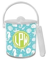 54 95 jetties teal lucite ice bucket personalized gifts monogram great gifts personalised gifts