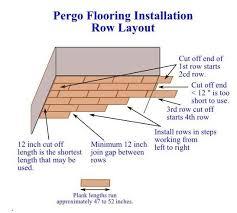 pergo floor installation row layout