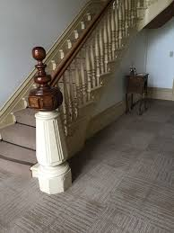 san francisco Carpet Tile staircase traditional with brown stair