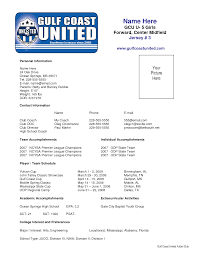 sample soccer resume places to resume sample soccer resume