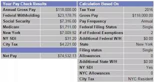 Paycheck Calculator New York Calculate Paycheck Nyc Magdalene Project Org
