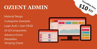 Codeigniter Material Admin User Management System Design