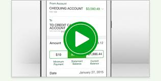 make your td credit card payments in a few simple steps