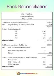 Bank Reconciliation Forms How To Do The Bank Reconciliation Accounting 14