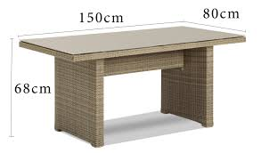 outdoor furniture lounge wicker sunbrella mateus lowdiningtable 1pc