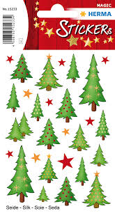 Christmas Tree Labels Stickers Christmas Trees Silk