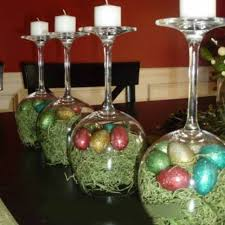 wine glass candle holder diy