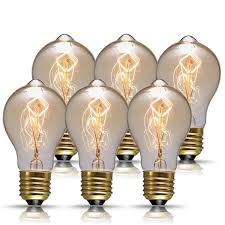 dores vintage edison bulbs 60w a19 antique style filament pendant lighting amber glass e26 dimmable light bulb