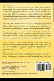 the literature film reader issues of adaptation james m welsh the literature film reader issues of adaptation james m welsh peter lev 9780810859494 amazon com books