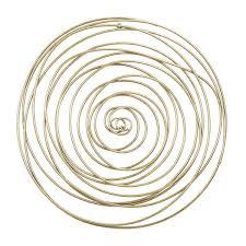 gold metal circle wall decor 14596 02
