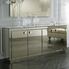 ... Mirrored Buffet Mirrored Sideboard Cabinet Smoked Mirrored Buffet And  Mirror White Mirrored Credenza ...