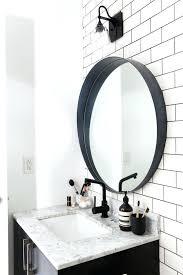 beautiful black bathroom mirror innovative best round ideas impressive inch full size